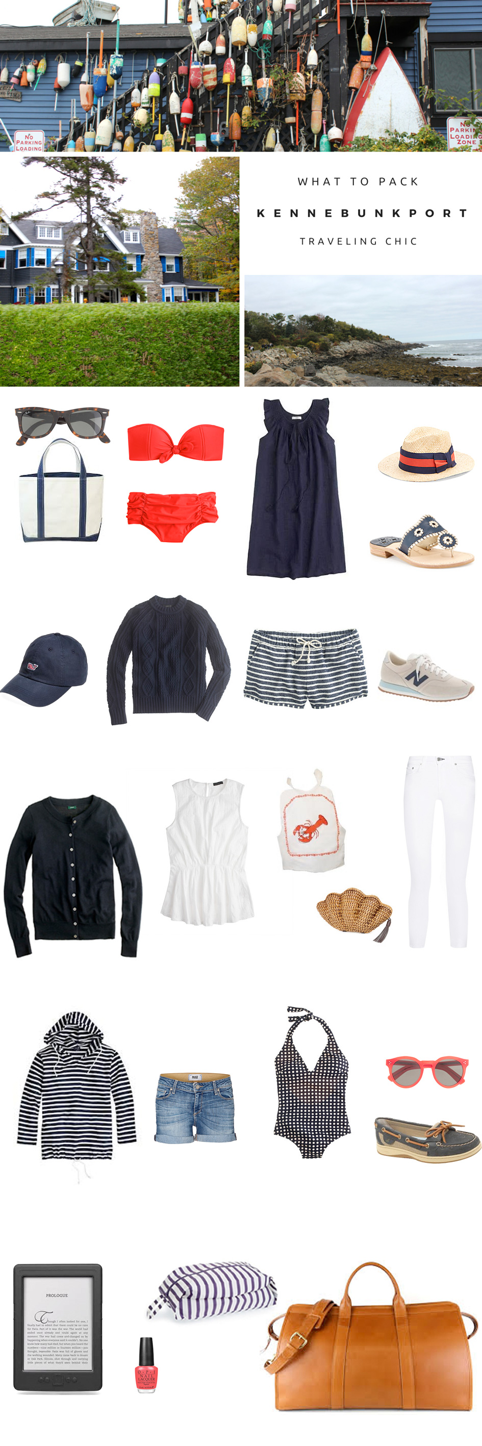 What to Pack for Kennebunkport, Maine
