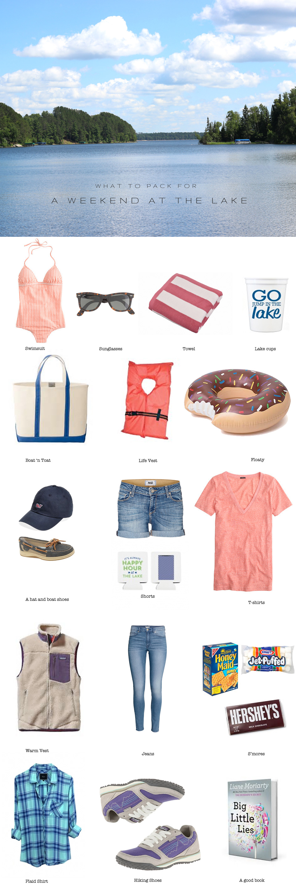 What to Pack for a Weekend at the Lake