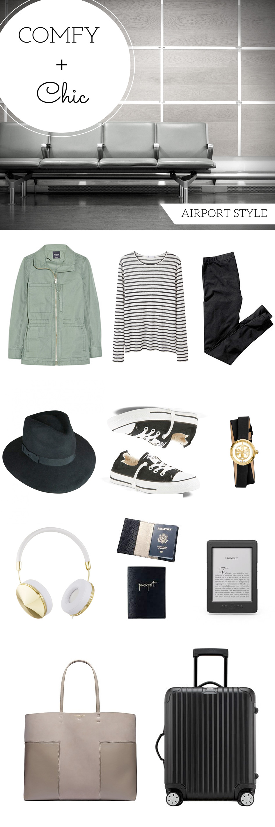 Comfy + Chic Airport Style