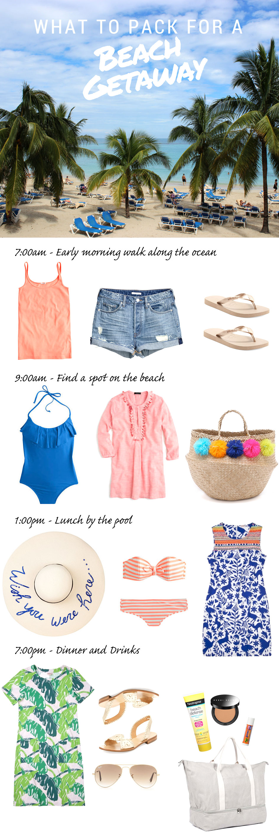 What to Pack – Beach Getaway