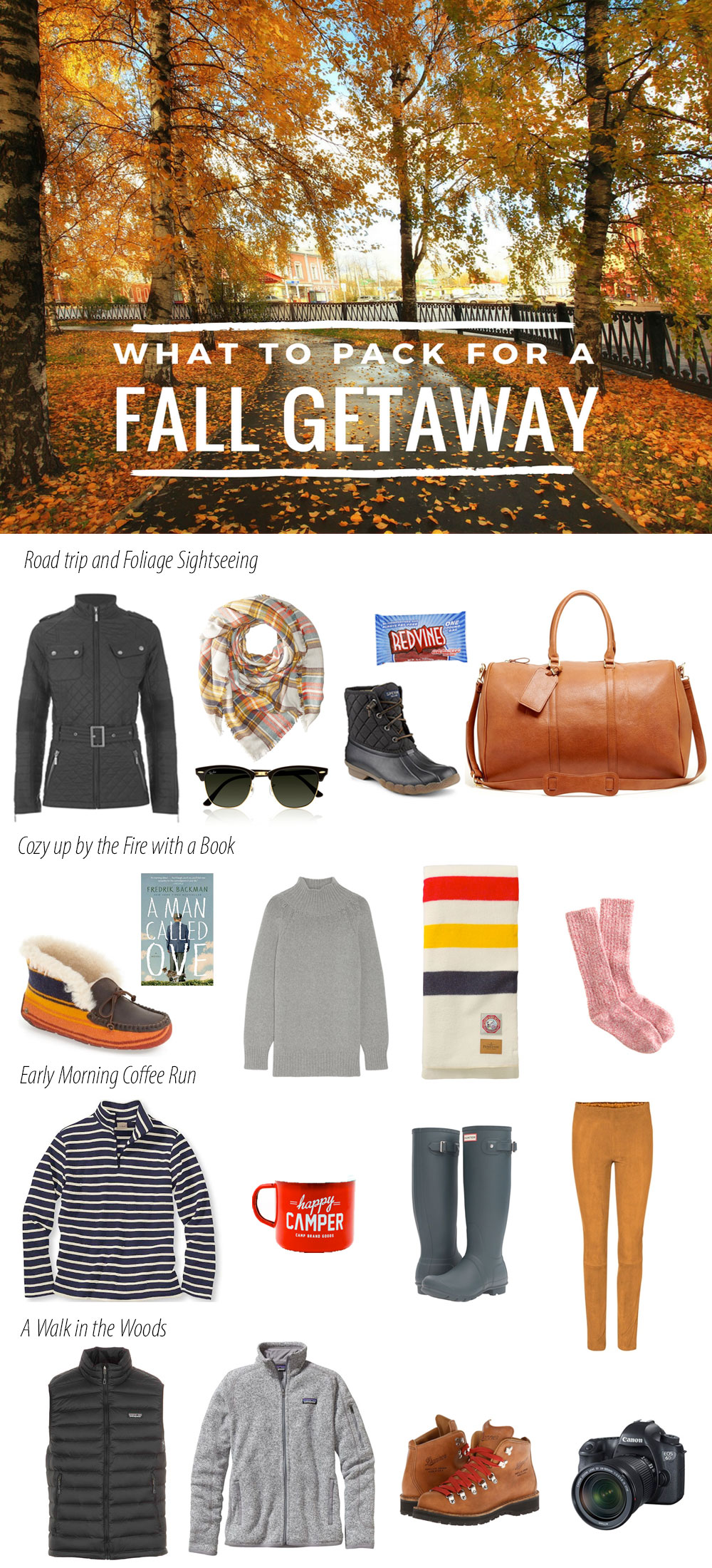What to Pack for a Fall Getaway