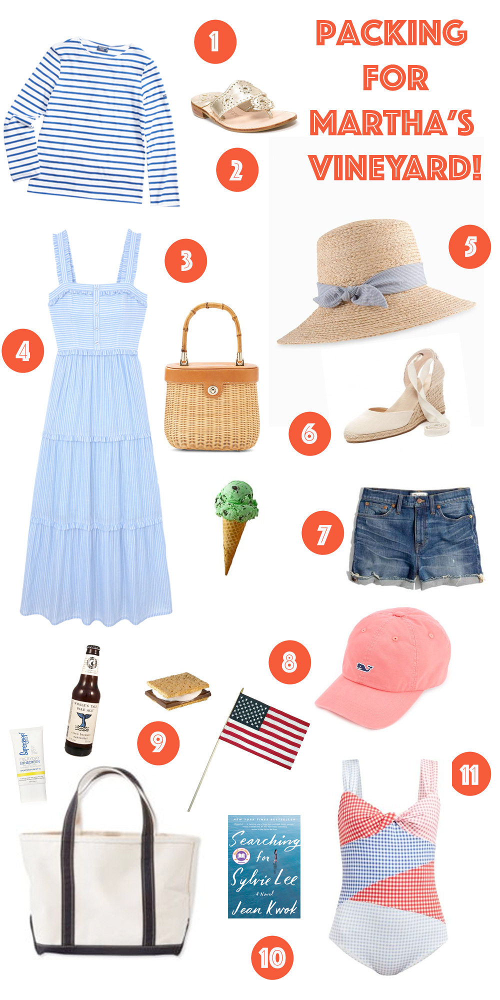 What to Pack for Martha's Vineyard