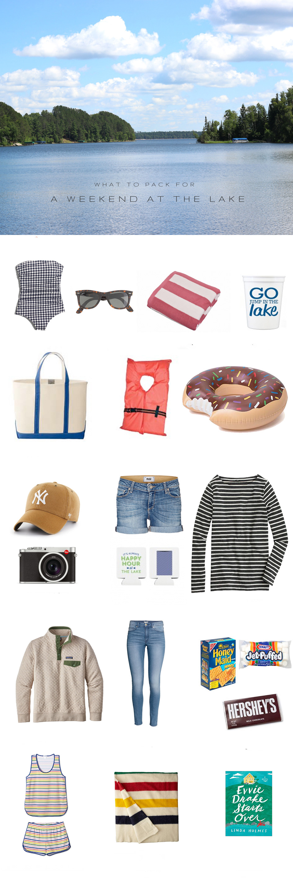 What to Pack for the Lake House